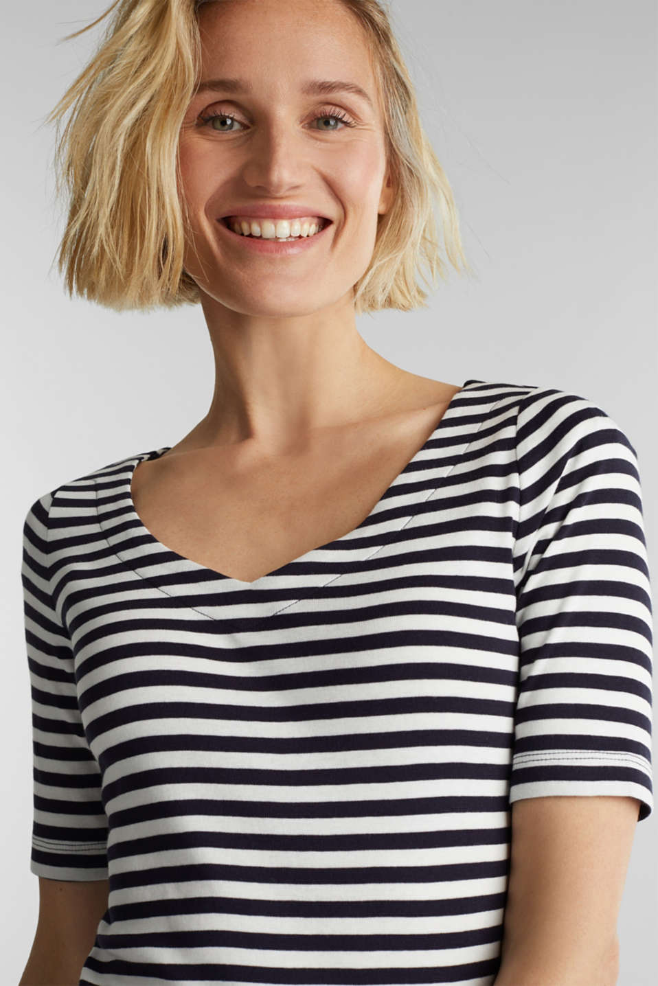 Jersey top made of 100% organic cotton, NAVY, detail image number 5