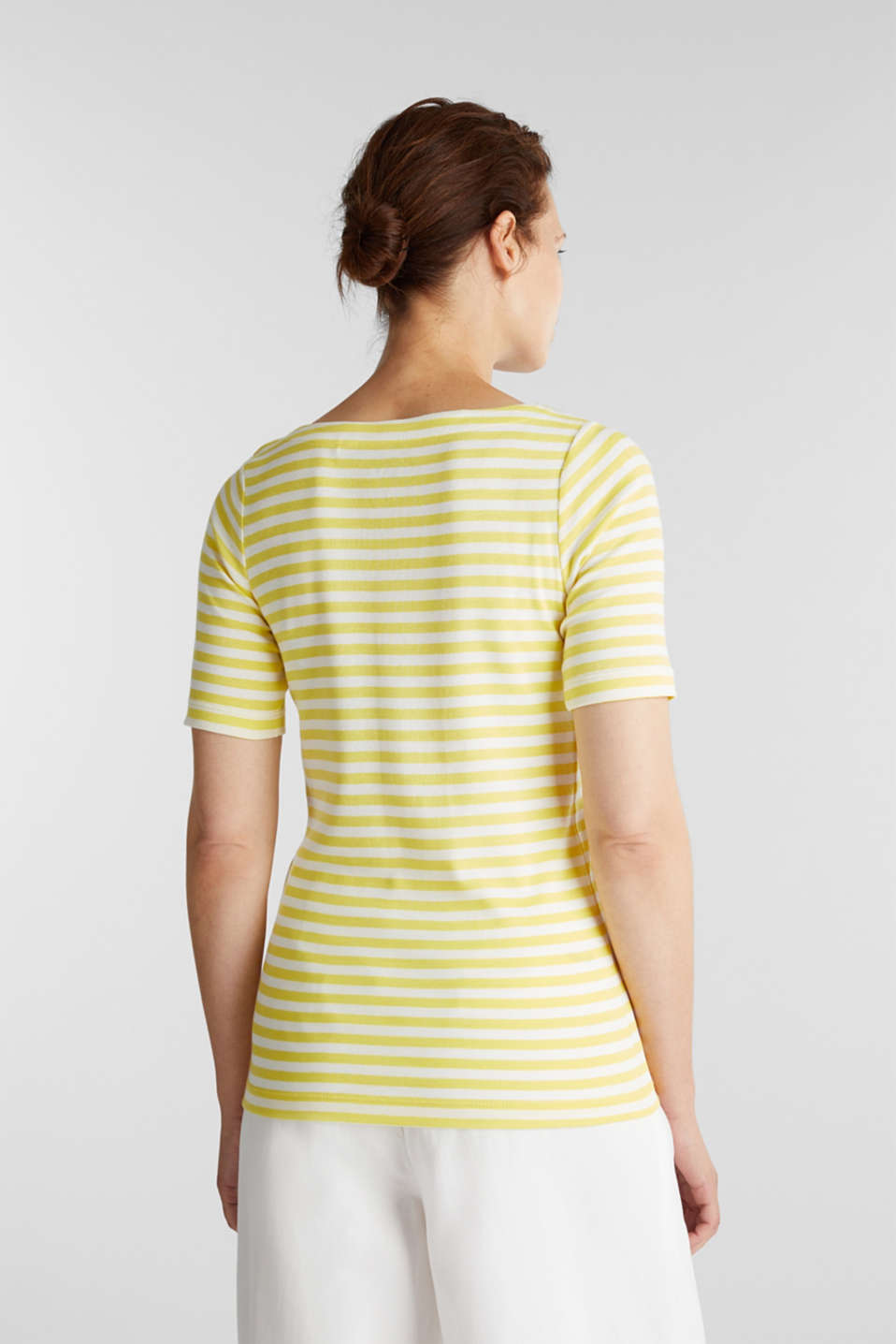 Jersey top made of 100% organic cotton, BRIGHT YELLOW, detail image number 2