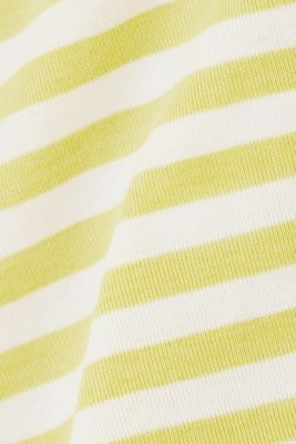 Jersey top made of 100% organic cotton, BRIGHT YELLOW, detail