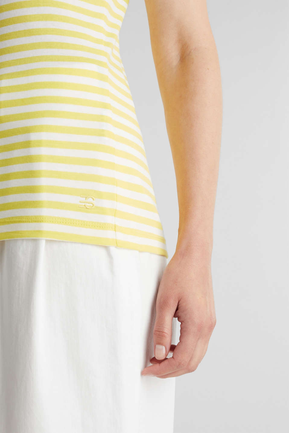 Jersey top made of 100% organic cotton, BRIGHT YELLOW, detail image number 4