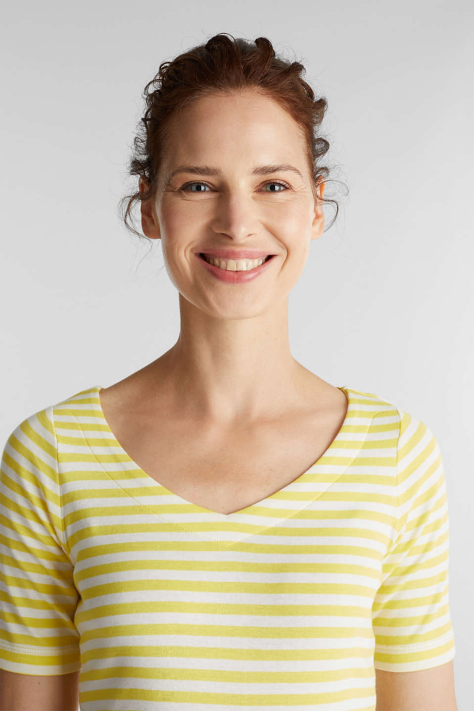 Jersey top made of 100% organic cotton, BRIGHT YELLOW, detail image number 5