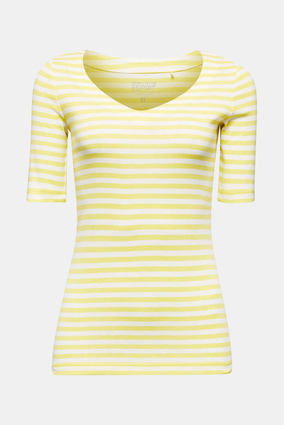 Jersey top made of 100% organic cotton, BRIGHT YELLOW, detail image number 6