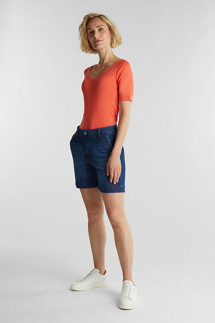 T-shirt made of 100% organic cotton, CORAL, detail image number 1