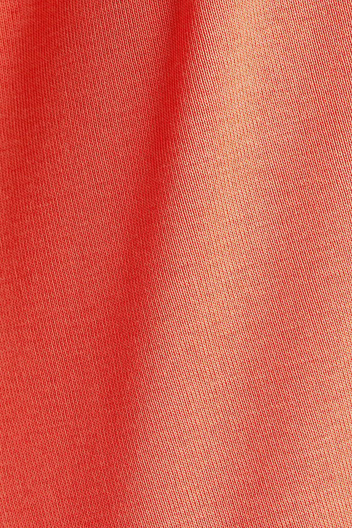 T-shirt made of 100% organic cotton, CORAL, detail image number 4