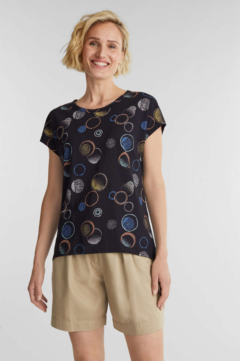 Esprit - Printed T-shirt in 100% organic cotton