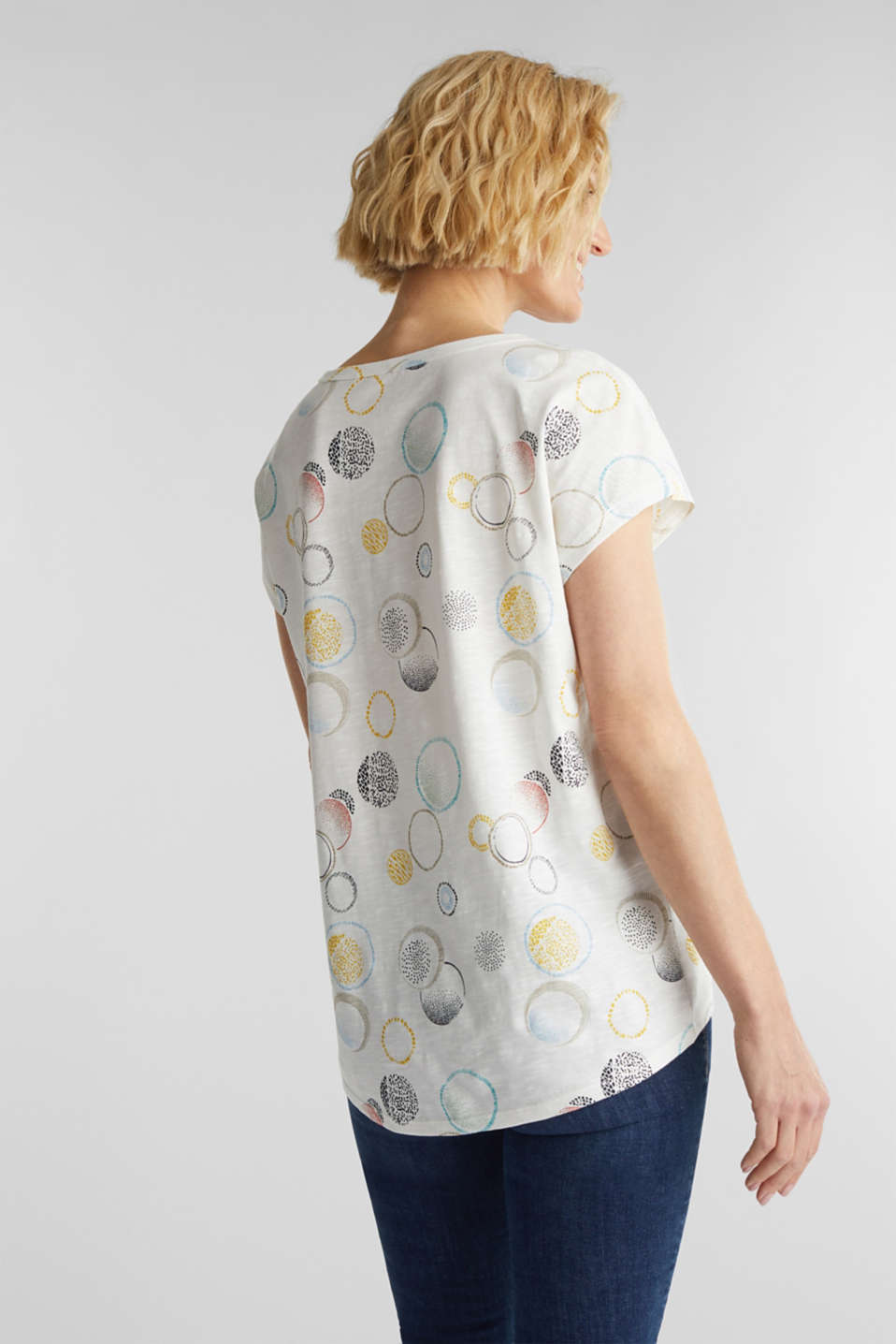 Printed T-shirt in 100% organic cotton, OFF WHITE 2, detail image number 3