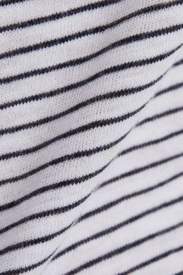 T-shirt with a striped print, WHITE, detail