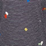 T-shirt with a striped print, NAVY, swatch