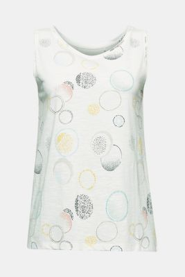 Jersey top made of 100% organic cotton, OFF WHITE 2, detail