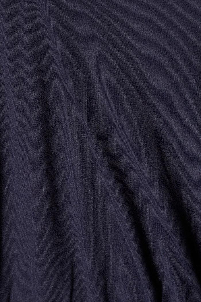 Jersey jumpsuit, NAVY, detail image number 4