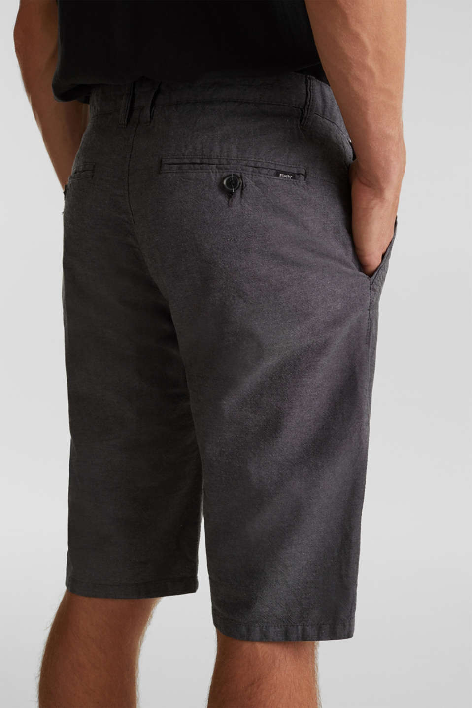 Shorts made of 100% cotton, ANTHRACITE, detail image number 2
