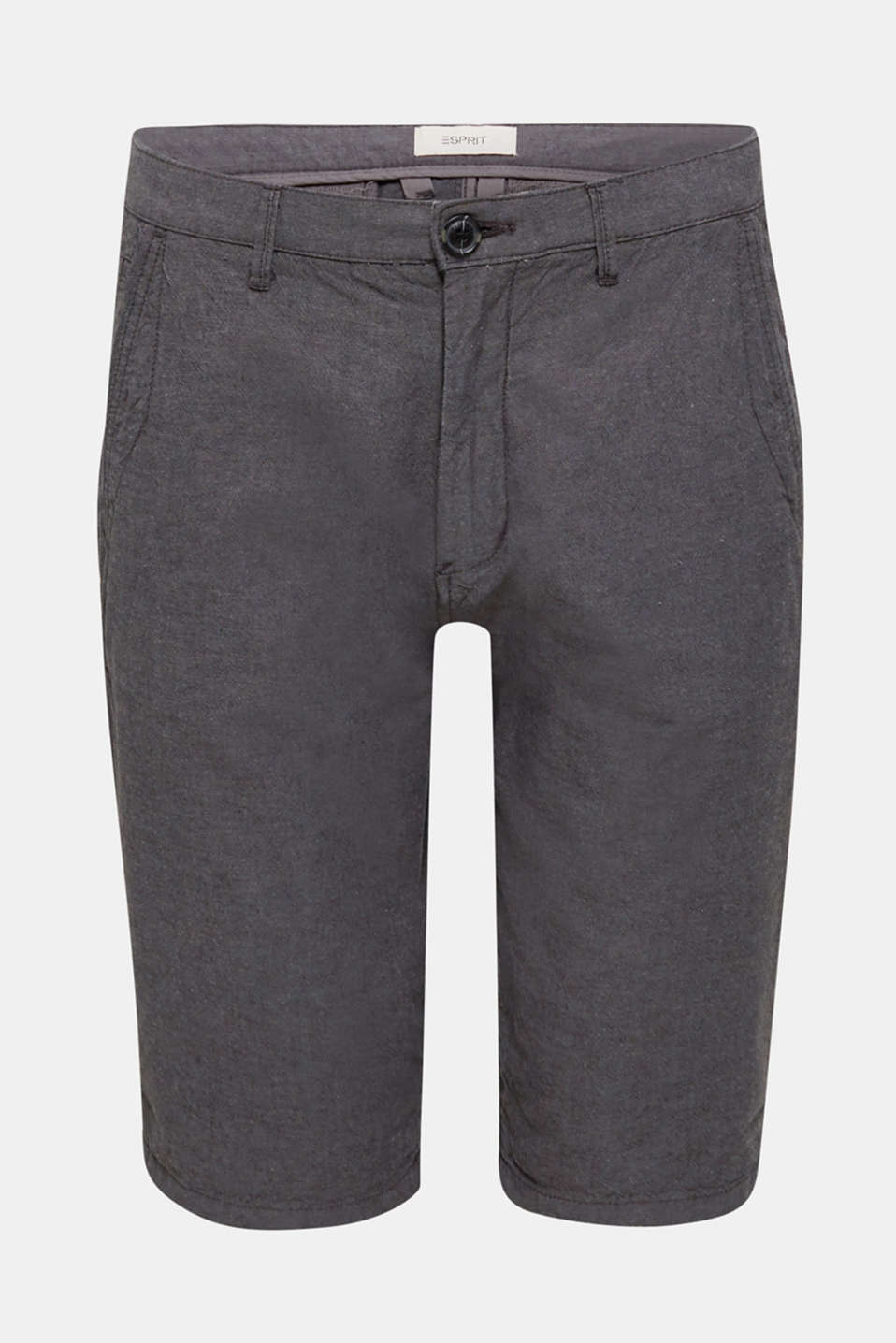 Shorts made of 100% cotton, ANTHRACITE, detail image number 5