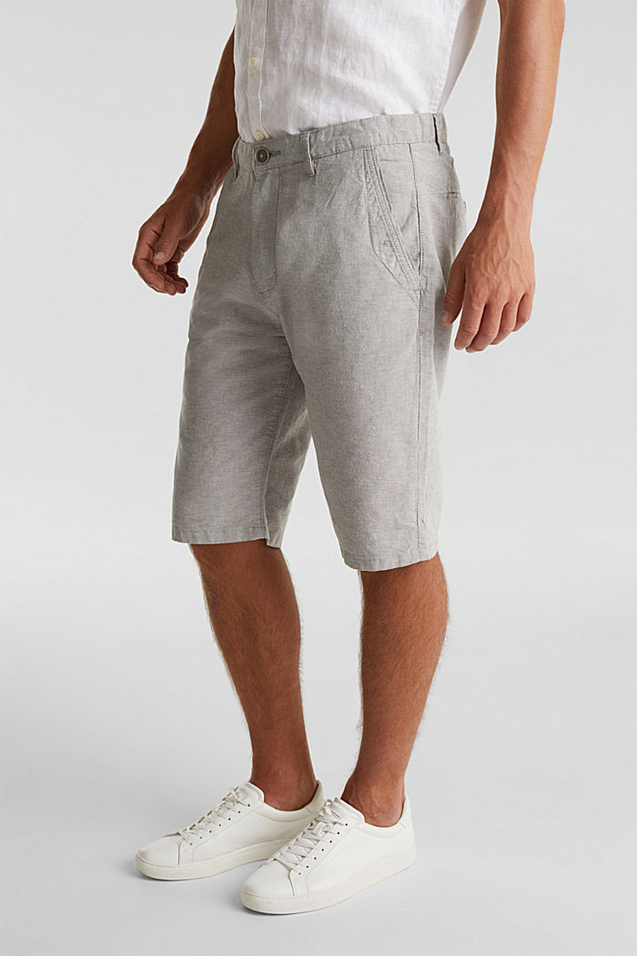 Shorts made of 100% cotton, LIGHT GREY, detail image number 0