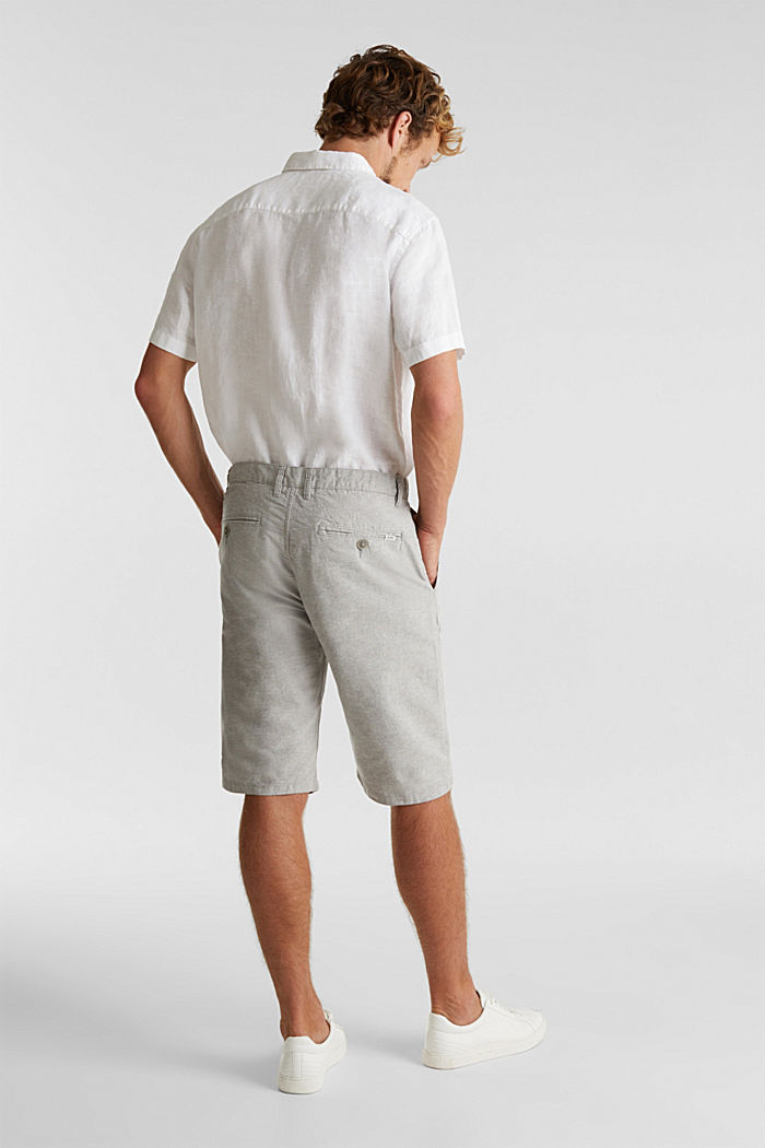 Shorts made of 100% cotton, LIGHT GREY, detail image number 2