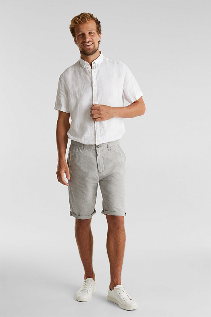 Shorts made of 100% cotton, LIGHT GREY, detail image number 1