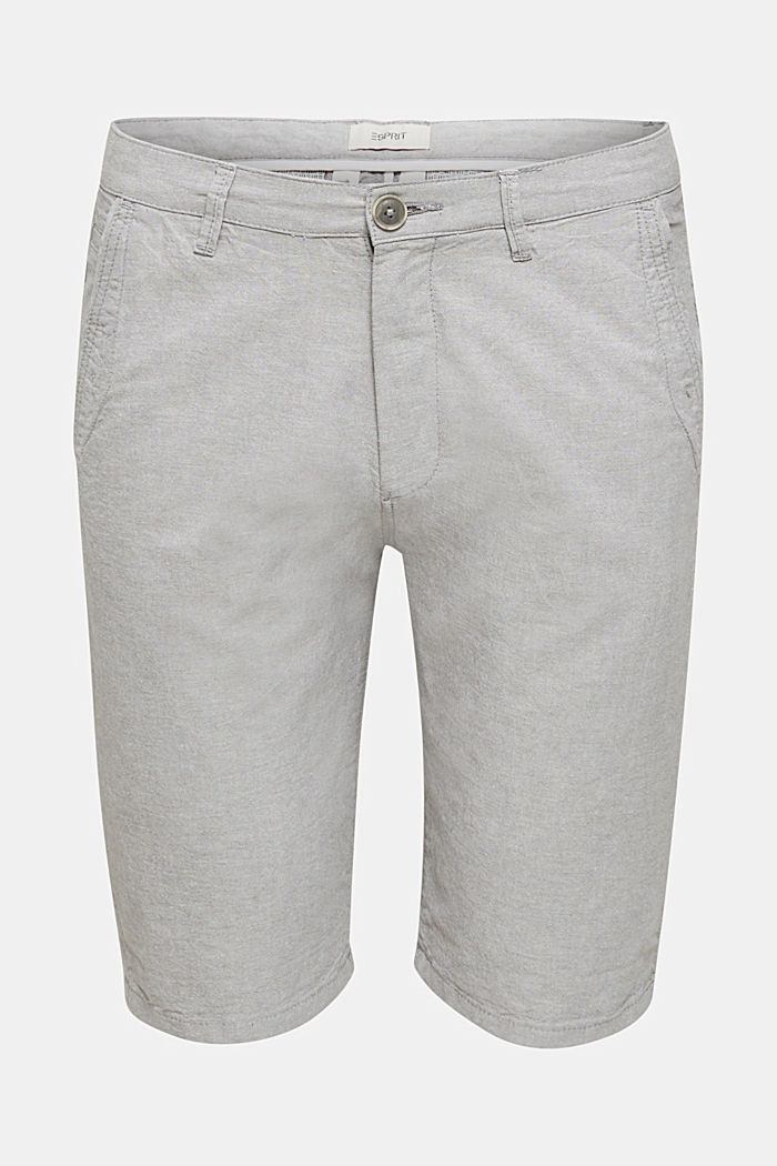 Shorts made of 100% cotton, LIGHT GREY, detail image number 4