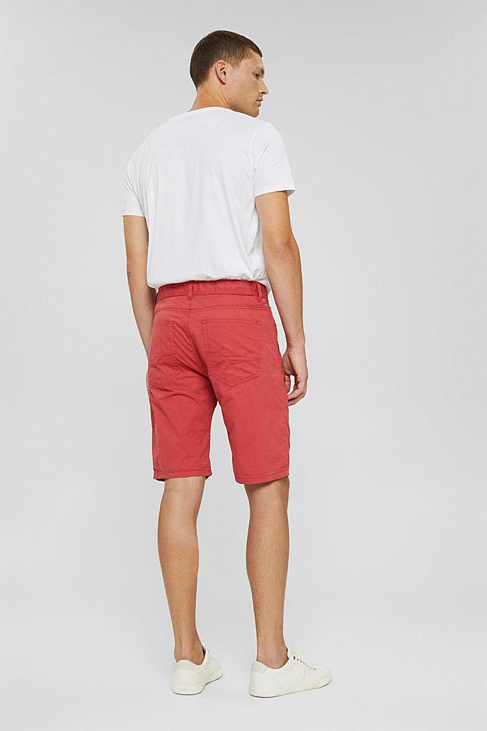 Shorts made of 100% cotton, ORANGE RED, detail image number 3