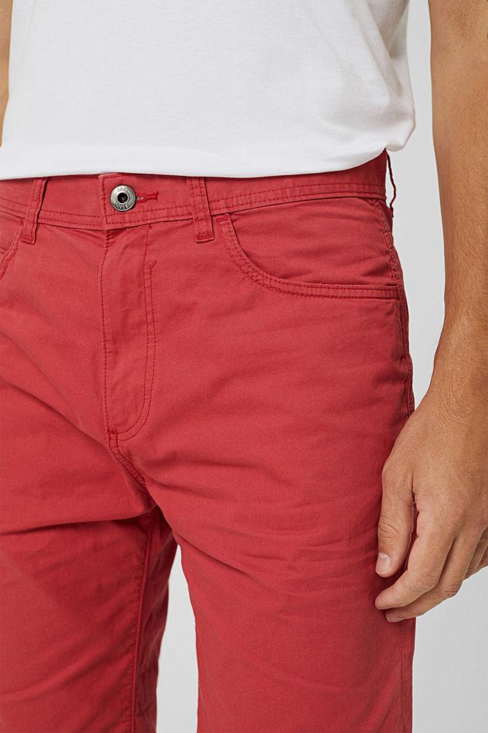 Shorts made of 100% cotton, ORANGE RED, detail image number 2