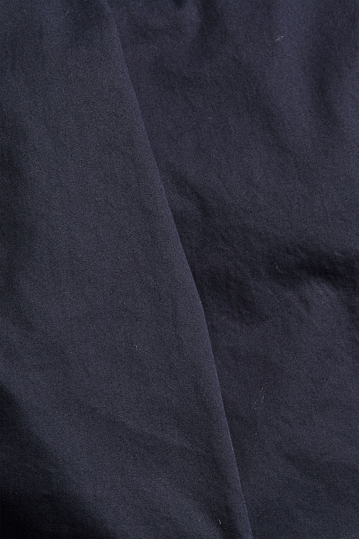 Shorts with elasticated waistband, 100% cotton, NAVY, detail image number 4