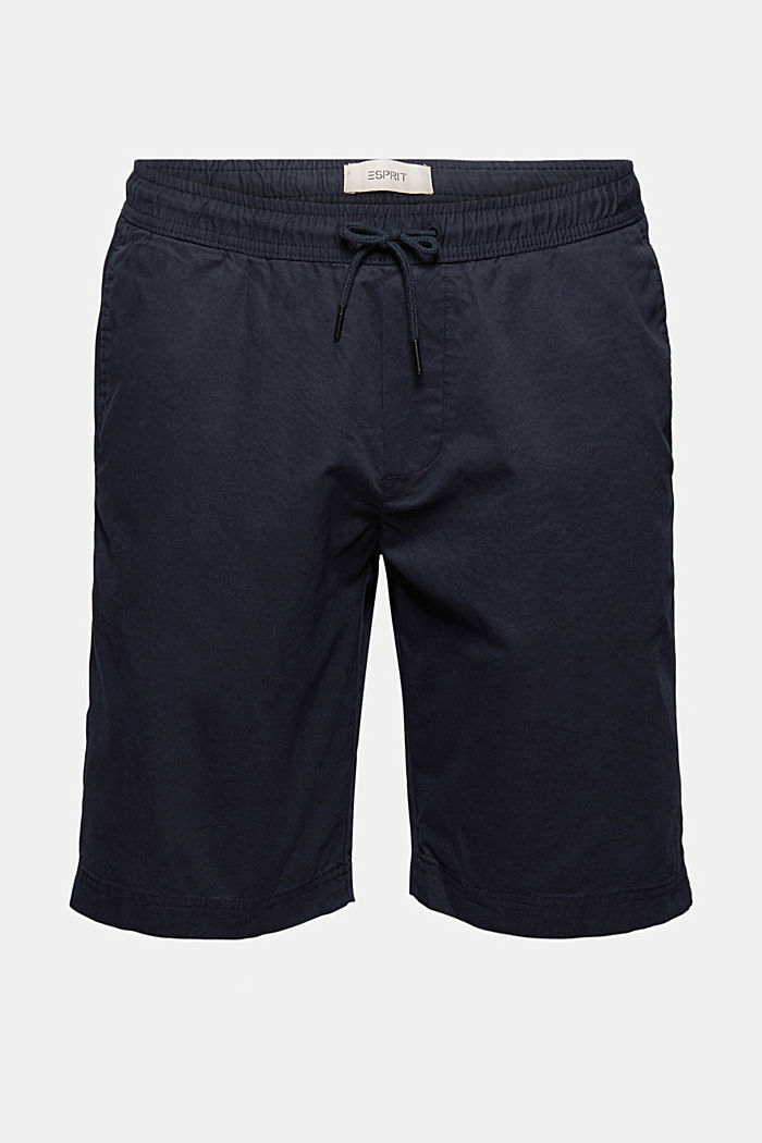 Shorts with elasticated waistband, 100% cotton
