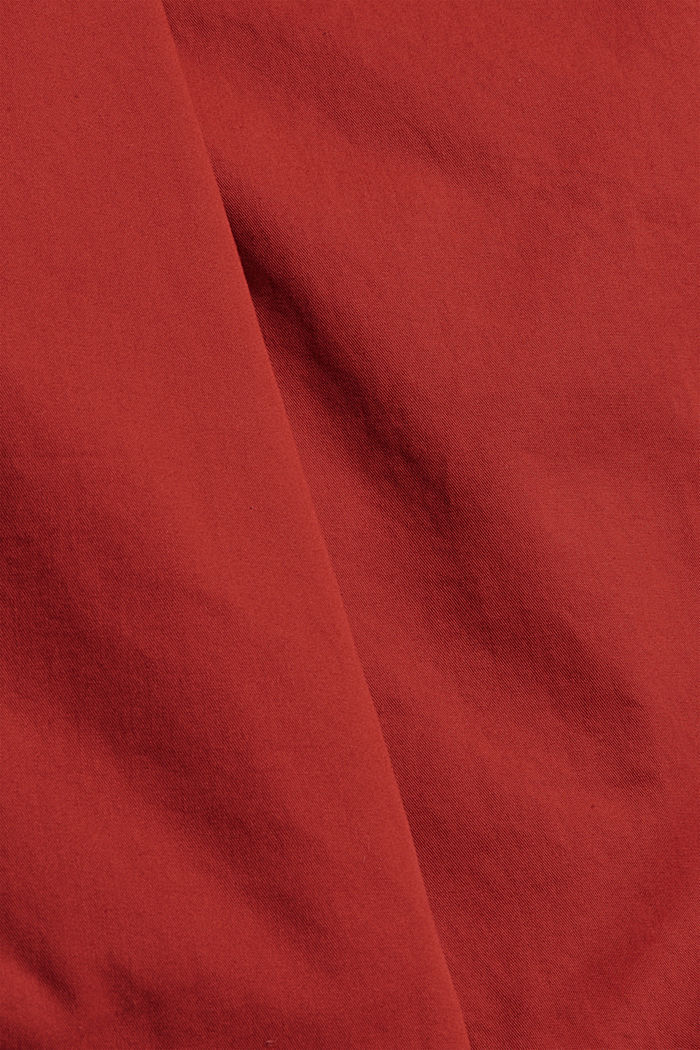 Shorts with elasticated waistband, 100% cotton, RED, detail image number 4