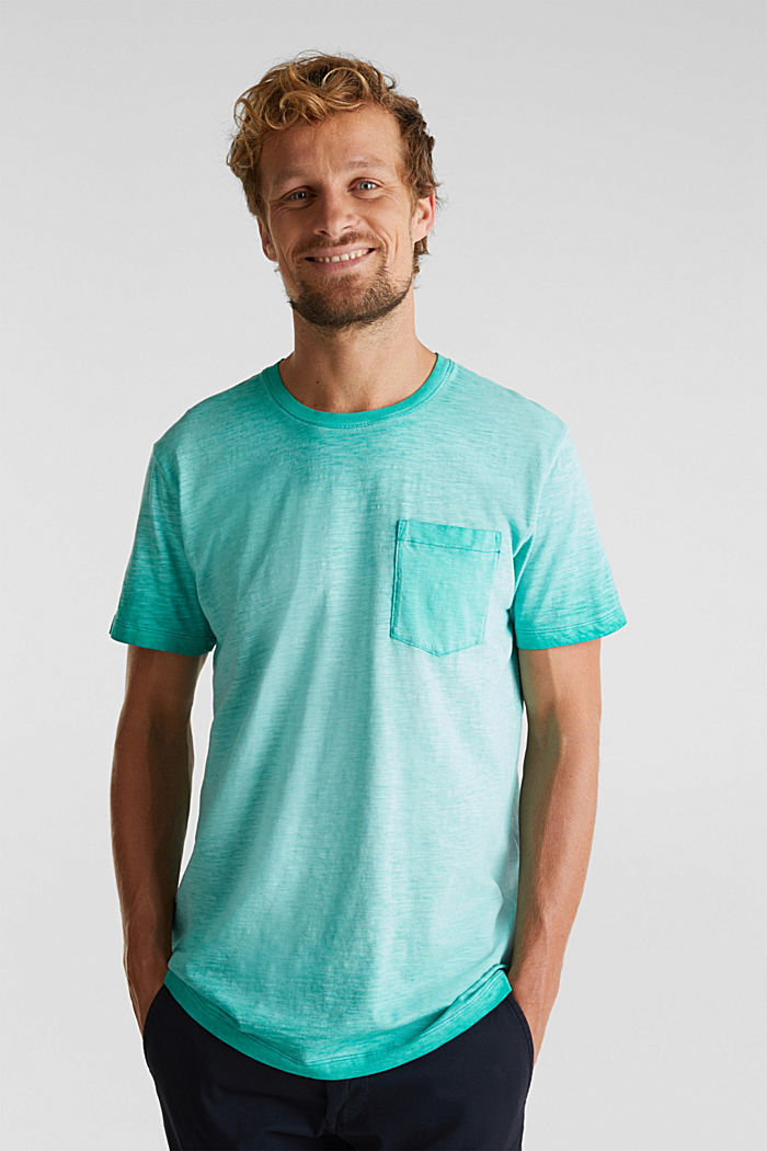 Jersey-Shirt aus 100% Organic Cotton, AQUA GREEN, detail image number 0