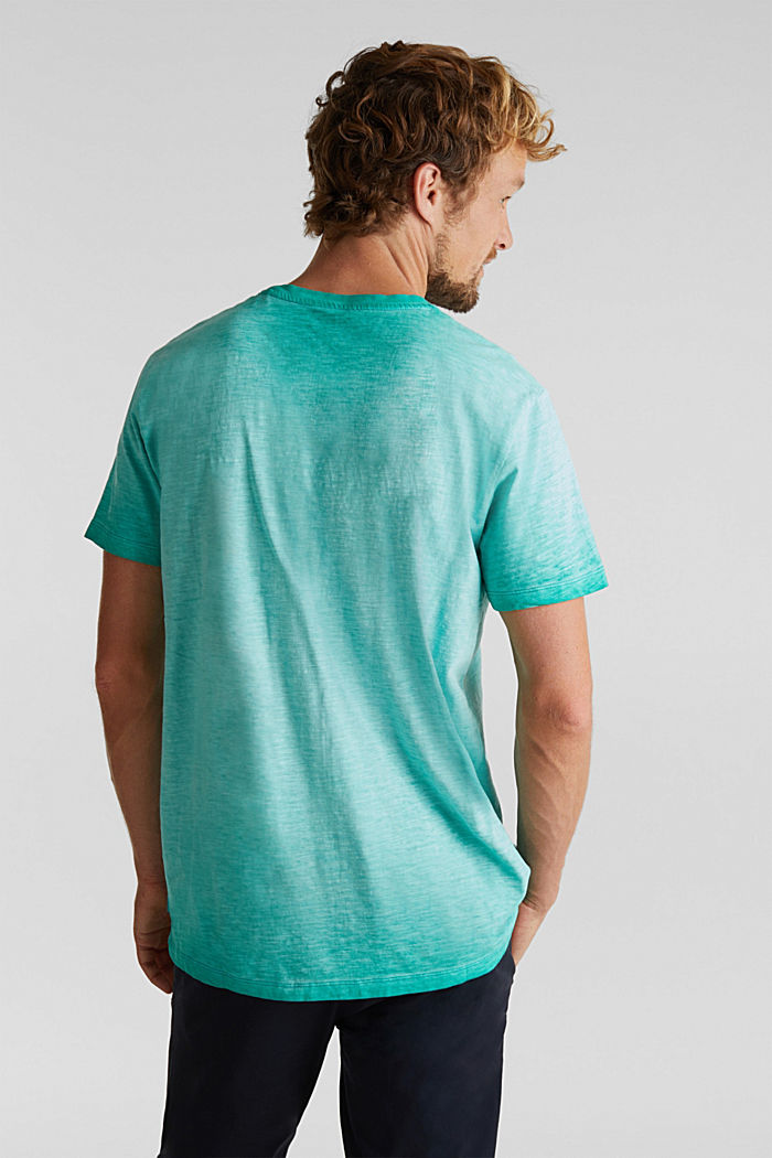 Jersey-Shirt aus 100% Organic Cotton, AQUA GREEN, detail image number 3