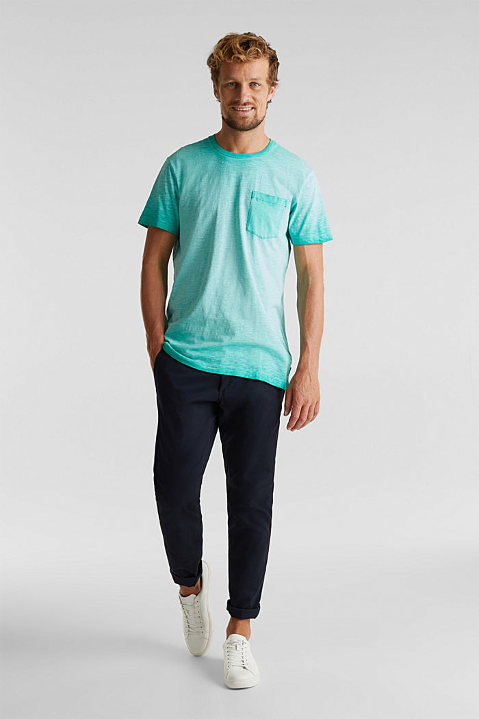 Jersey-Shirt aus 100% Organic Cotton, AQUA GREEN, detail image number 2