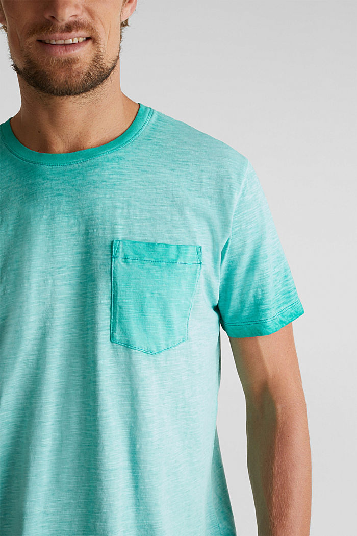 Jersey-Shirt aus 100% Organic Cotton, AQUA GREEN, detail image number 1