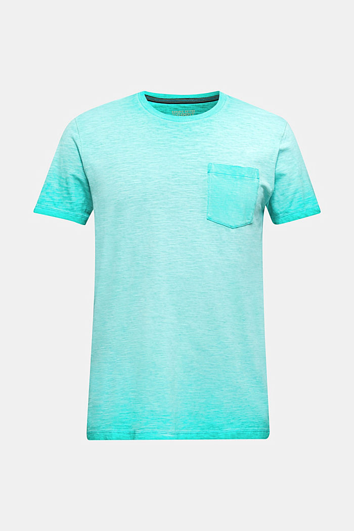 Jersey-Shirt aus 100% Organic Cotton, AQUA GREEN, detail image number 5