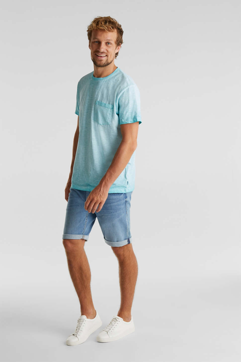 Jersey top made of 100% organic cotton, LIGHT BLUE 2, detail image number 2