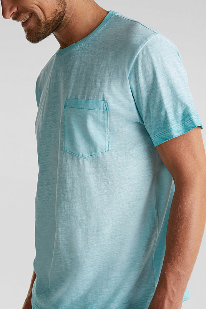 Jersey-Shirt aus 100% Organic Cotton, LIGHT BLUE, detail image number 1