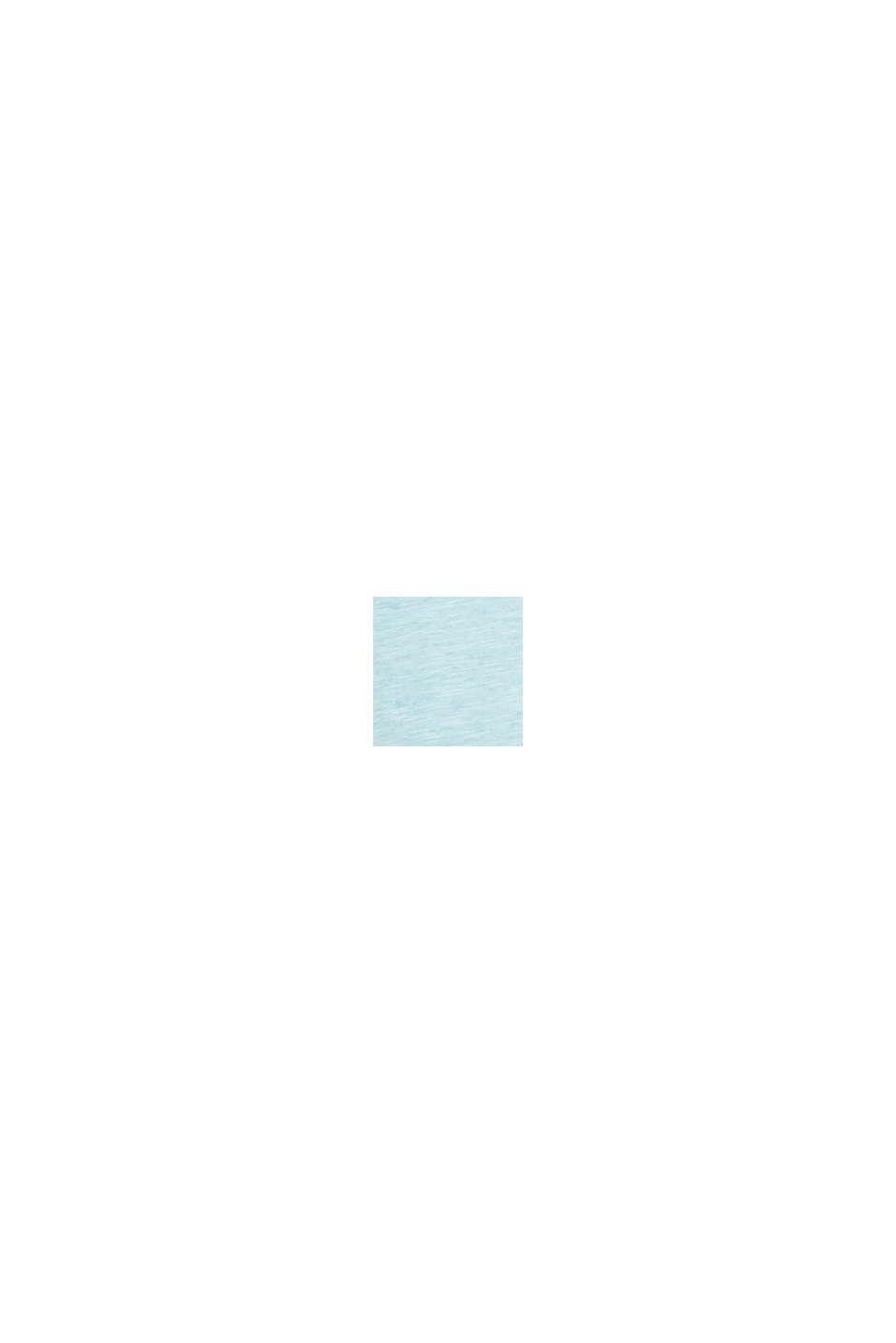 Jersey shirt van 100% biologisch katoen, LIGHT BLUE, swatch