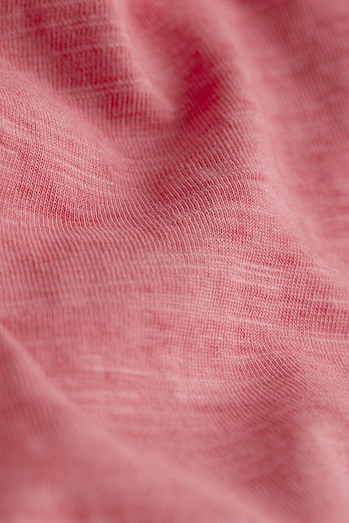 Jersey-Shirt aus 100% Organic Cotton, RED, detail image number 4