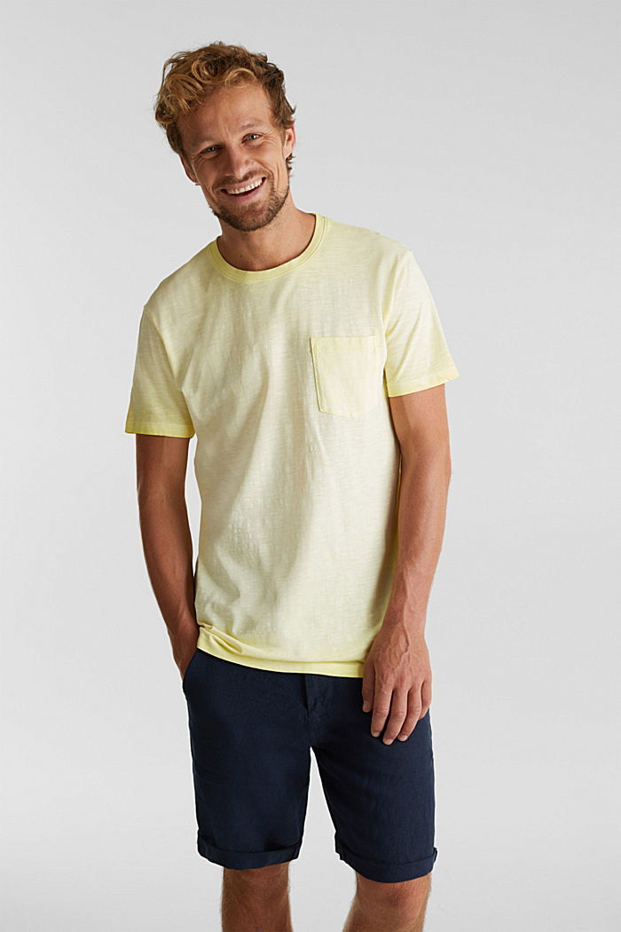 Jersey top made of 100% organic cotton, LIGHT YELLOW, detail image number 0