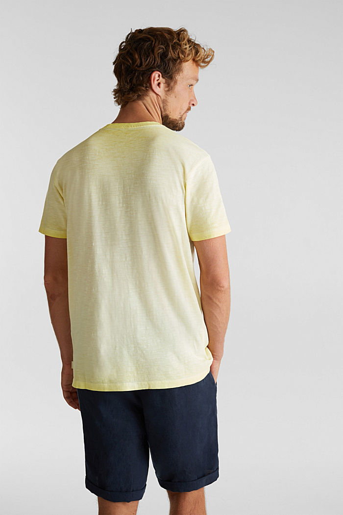 Jersey top made of 100% organic cotton, LIGHT YELLOW, detail image number 3