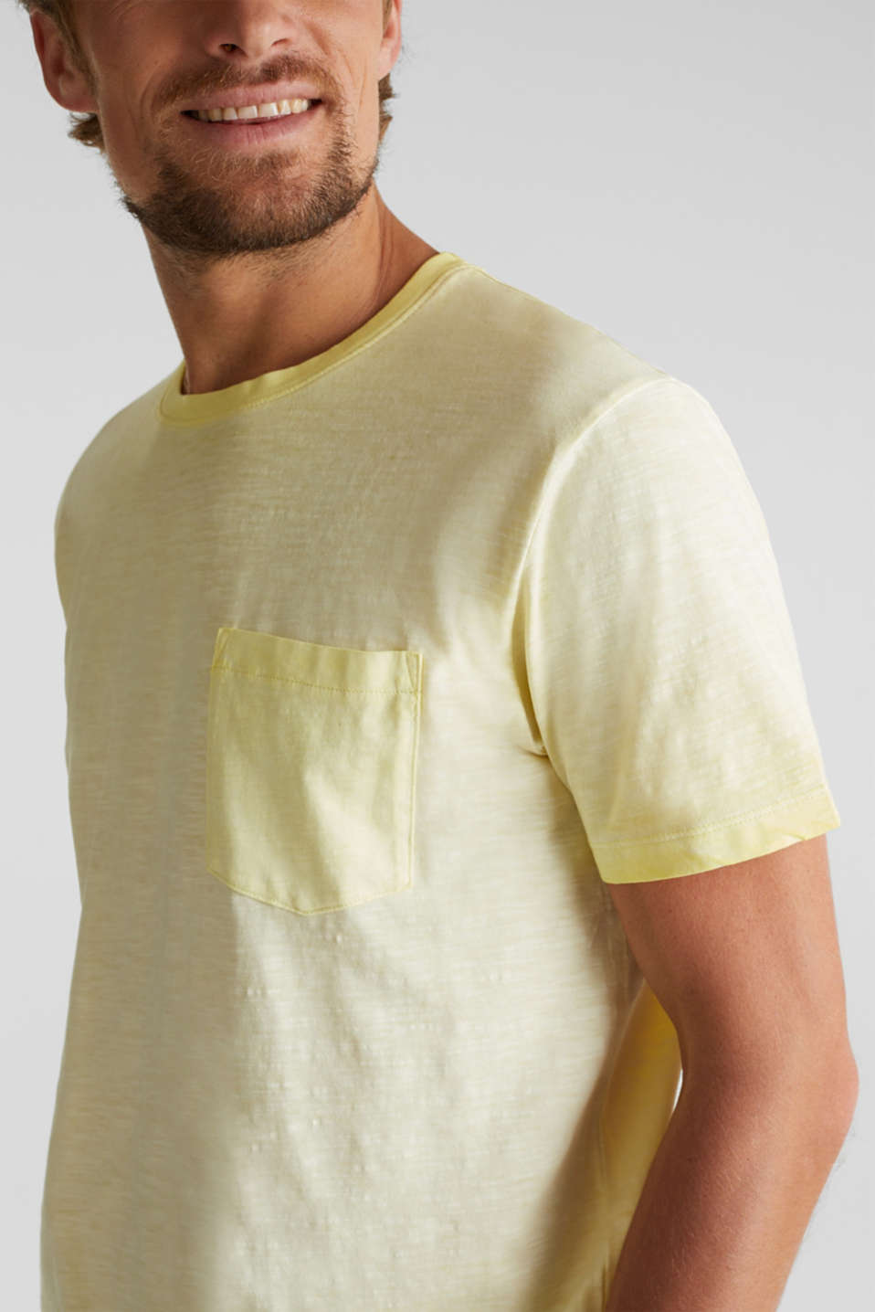 Jersey top made of 100% organic cotton, LIGHT YELLOW 2, detail image number 1