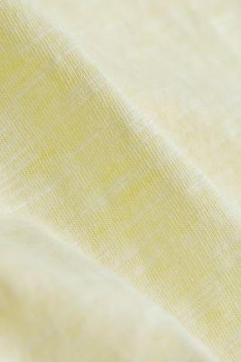 Jersey top made of 100% organic cotton, LIGHT YELLOW 2, detail