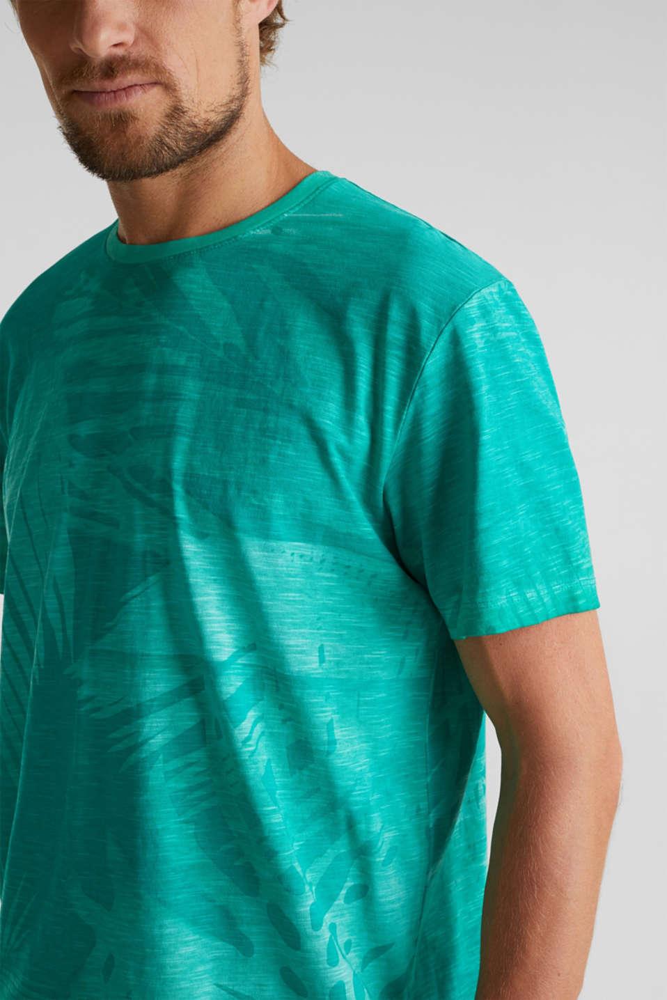 Jersey print top, 100% organic cotton, AQUA GREEN 4, detail image number 1