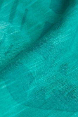 Jersey print top, 100% organic cotton, AQUA GREEN 4, detail