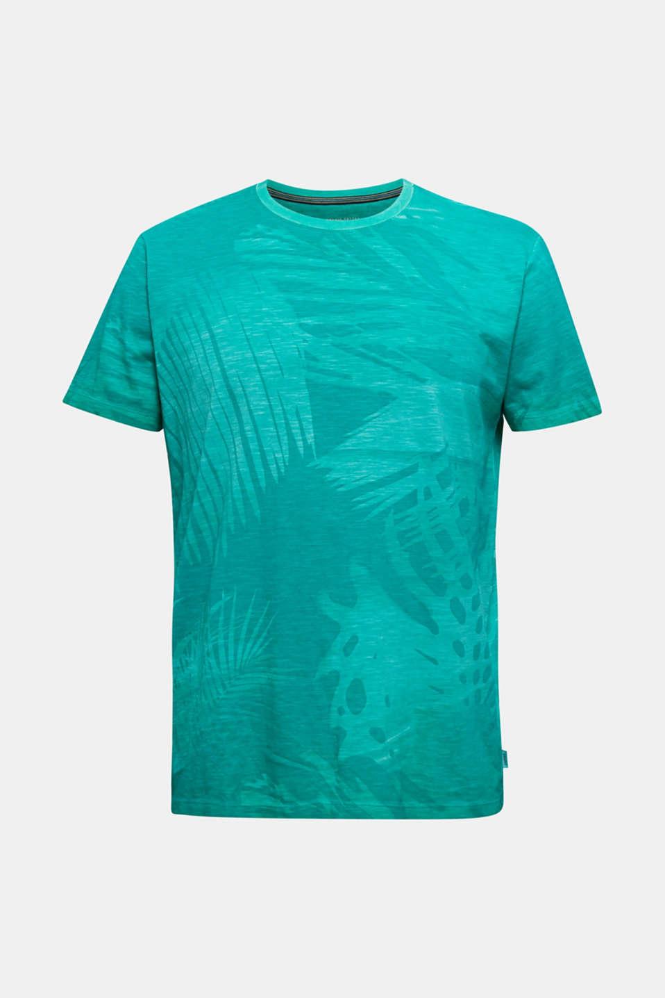 Jersey print top, 100% organic cotton, AQUA GREEN 4, detail image number 5