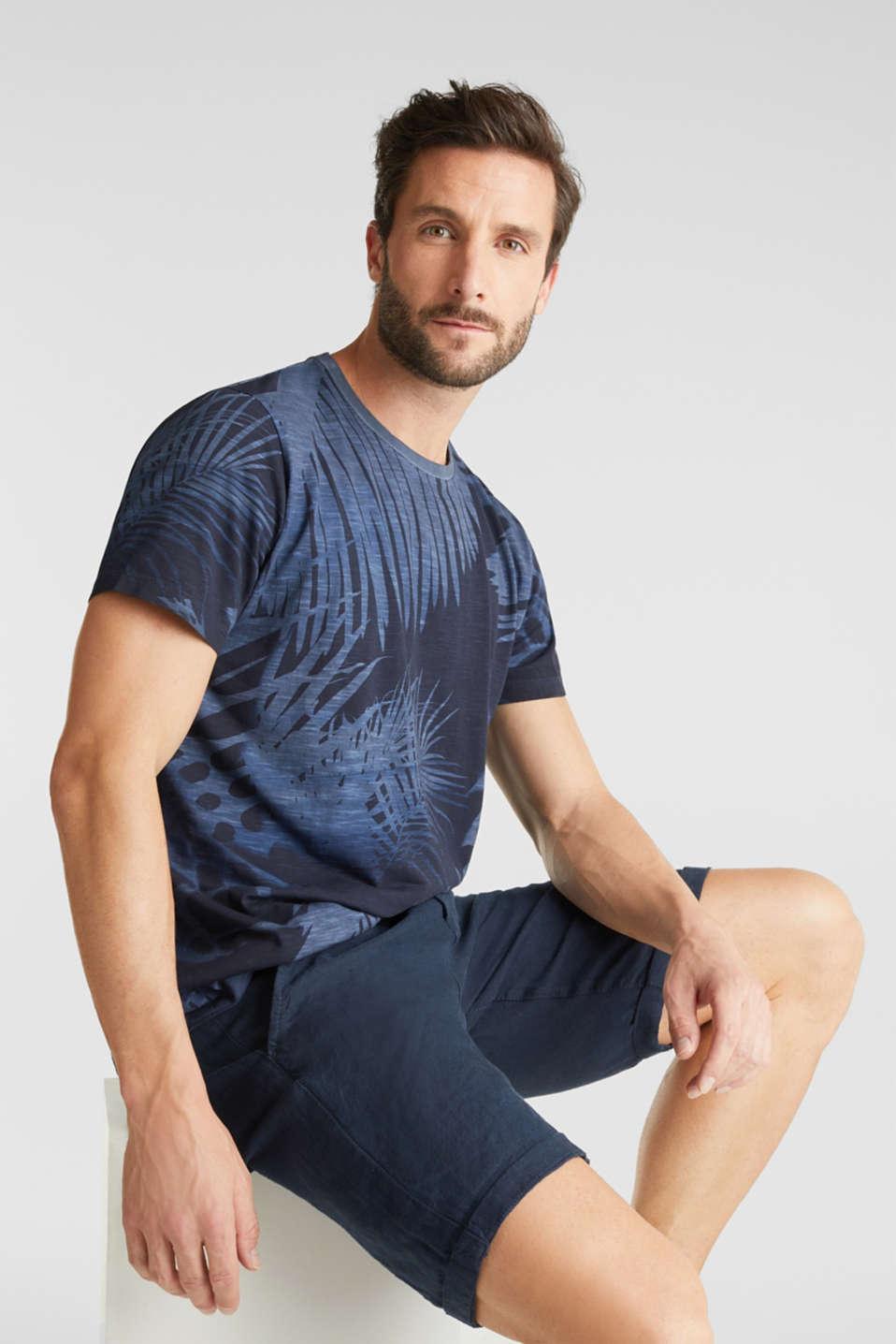 Jersey print top, 100% organic cotton, NAVY 4, detail image number 0