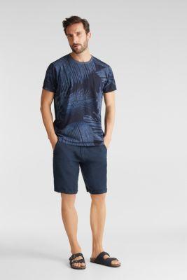 Jersey print top, 100% organic cotton, NAVY 4, detail