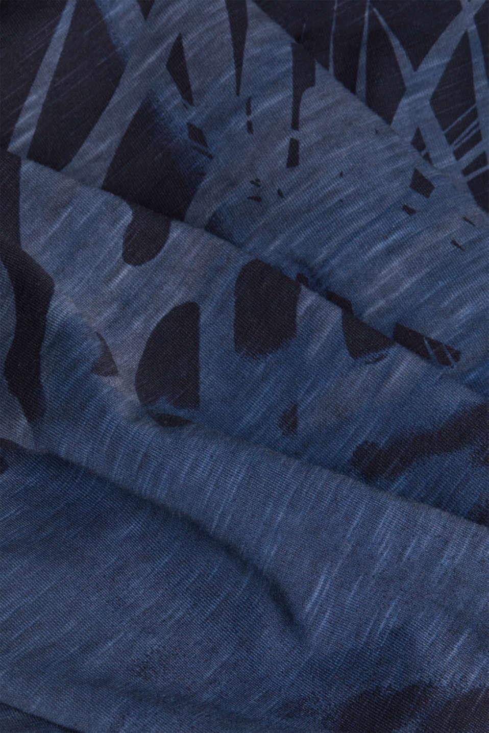 Jersey print top, 100% organic cotton, NAVY 4, detail image number 4