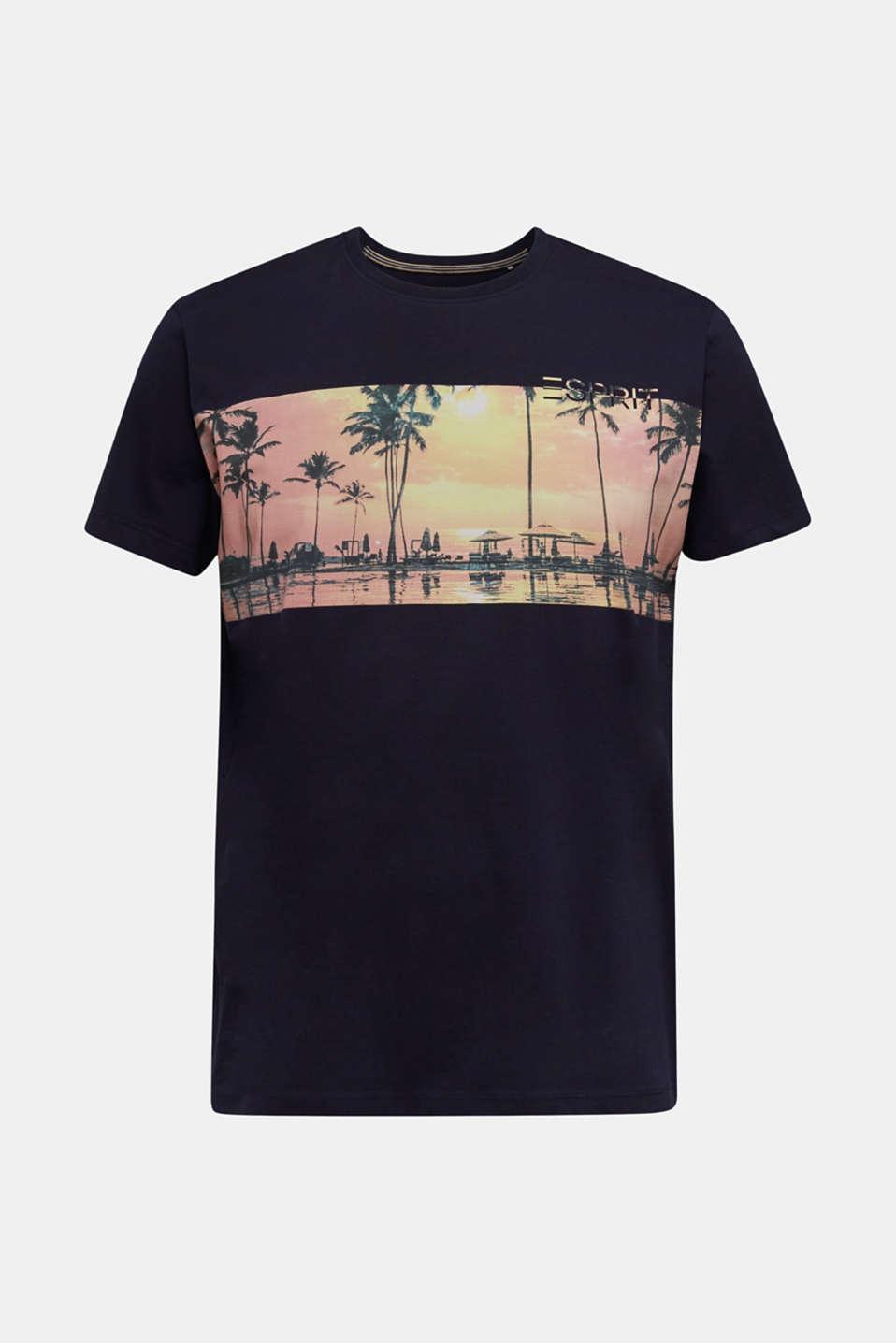 Jersey print top, 100% organic cotton, NAVY, detail image number 5