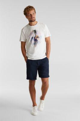Jersey print top, 100% organic cotton, OFF WHITE, detail