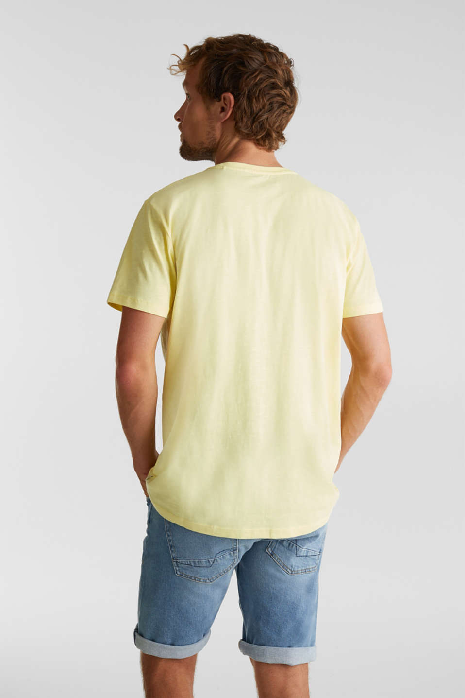 Jersey print top, 100% organic cotton, LIGHT YELLOW 2, detail image number 3