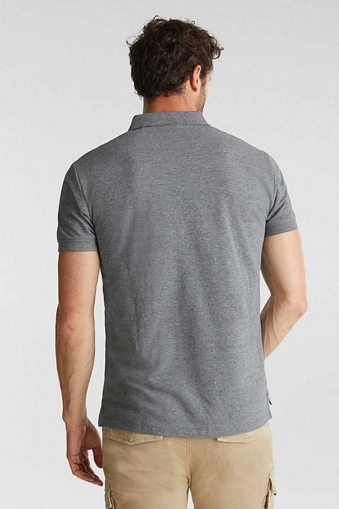 Melange piqué polo shirt, DARK GREY, detail image number 3