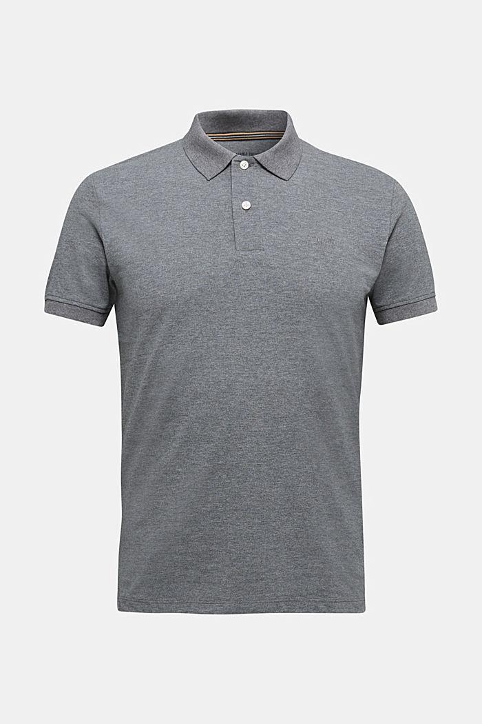 Melange piqué polo shirt, DARK GREY, detail image number 5