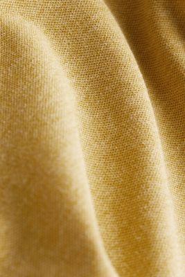 Melange piqué polo shirt, YELLOW, detail
